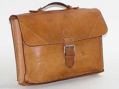 Bree Aktentasche Leder Natur Notebooktasche Vintage Leather Bag Briefcase in Kleidung & Accessoires, Herren-Accessoires, Taschen   eBay