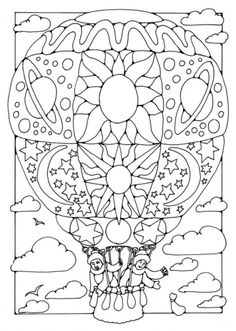 """By Dandi Palmer, Dodo Books, """"Pictures to Colour in 2"""" coloring book."""
