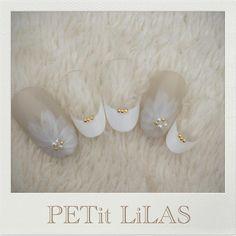 シースルーなお花ネイル♡ 表参道 原宿のPrivatenail PETit LiLAS プティリラ ご予約はmail nail.lilas@gmail.comお問い合わせ下さい♡