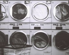I don't love doing laundry, frankly it never ends as we all know. But every old laundry-mat has giant dryers that I could fit in. Dating Humor, Funny Videos, Coin Laundry, Laundry Area, Laundry Rooms, Household Chores, Friends Tv, Black N White, Life Is Beautiful
