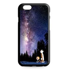 Calvin And Hobbes Star Night Nebula iPhone 4/4S/5/5S/5C/6/6S/6+/6S+ Heavy Duty Case