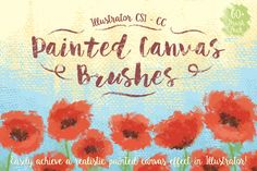 Painted Canvas Brushes by @Graphicsauthor