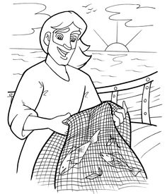 Fishers of Men Coloring Page, sunday school, christian coloring pages