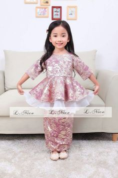 29581574: Kids Baju Kurung Moden / Peplum / Baju Raya for Ages 1 Yrs - 12 Yrs: Dresses: New: 0.3kg: Courier Service
