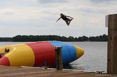 "Lake fun! Definitely loved ""the blob"""
