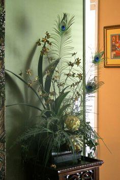 peacock flower arrangement
