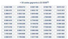 50 codes supr loto vendredi 13 avril 2018