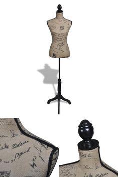 Vintage Tailors Dummy Female Mannequin Clothes Torso Bust Shop Room Hanger  Stand