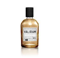 Valiram Perfume via @thedieline. Love the bold black and white label.