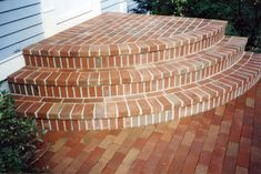 Gnome Landscape and DesignGnome Landscapes Driveway Ideas, Patio Ideas, Garden Ideas, Patio Stairs, Entry Stairs, Brick Steps, Brick Path, Porch Doors, Entrance Doors