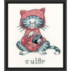 Heritage See You Later (C U L8R) Counted Cross-Stitch Kit