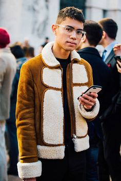 Fashion Week homme Street looks Milan automne hiver 2016 2017 18