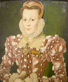 Hans Eworth (circa 1520 Portrait of Mary (Browne) Wriothesley, Countess of Southampton, aged about at the time of her marriage, 1565 1565 Medium oil on panel Private collection Mode Renaissance, Renaissance Clothing, Renaissance Fashion, Tudor Fashion, Royal Fashion, Women's Fashion, Los Tudor, Tudor Era, Elizabethan Fashion