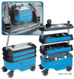 OMG OMG OMG!! this would work!! Rolling toolbox for my makeup... except I just learned they are like 1200 bucks :(