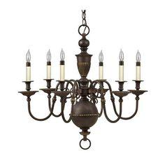 Cambridge Olde Bronze Six-Light Chandelier