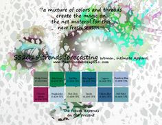 SS2015 trends forecasting for Women, Men Apparel - a mixture of colors and threads create the magic on the net material for this new fresh s...