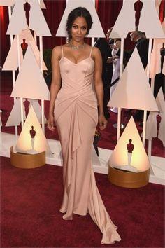 Zoe Saldana in Atelier Versace Oscar 2015
