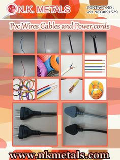 Pvc Wires, Cables and Power cords By NK Metals