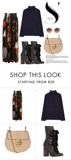 """""""#315"""" by michalinawardeska ❤ liked on Polyvore featuring Chloé, Linda Farrow, women's clothing, women, female, woman, misses and juniors"""