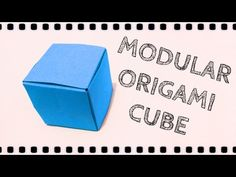 How to make: Origami Cube  (6 unit)
