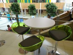 The space uses a variety of furniture, both formal and informal.     Compact Office desk