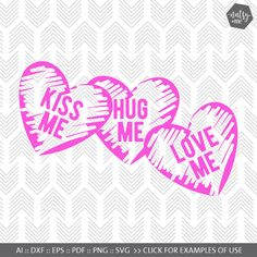 Valentines SVG File - Candy Hearts - Love SVG - SVG files for Silhouette, Cricut - Vinyl htv Clip art - Commercial use Valentine Crafts, Valentines, Image Sharing Sites, Silhouette Cameo, Commercial Use Fonts, Cricut Vinyl, Cricut Craft, Vinyl Decals, Printable Designs