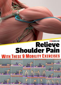 Shoulder Pain Exercises, Shoulder Workout, Fitness Workout For Women, Health And Fitness Tips, Workout Splits, Gym Workout Chart, Home Exercise Routines, Massage Techniques, Workout Aesthetic