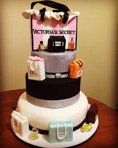 Shopping bag cake Victoria secret's cake 18 years cake torta 19 anni