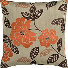 @Overstock.com - Decorative Facy Pillow - Lend a touch of garden-inspired romance to your space with this floral accent pillow. This handsome accent pillow features brilliant orange blossoms and verdant foliage on a neutral field of tan to add a naturally stylish look to your sofa or bed.  http://www.overstock.com/Home-Garden/Decorative-Facy-Pillow/6412853/product.html?CID=214117 $25.19