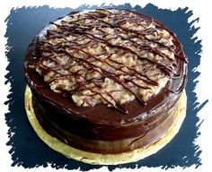 german chocolate cake. I think I'll maker this one for my brothers bday, minus the nuts though.