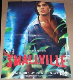 TOM WELLING SMALLVILLE SUPERMAN/SUPERBOY WB TV SHOW POSTER