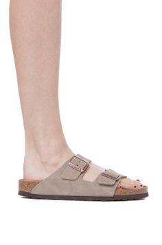 Birkenstock Soft Footbed Taupe Suede Arizona