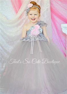 46 best Flower Girl Tutu Dresses images on Pinterest | Girls tutu ...