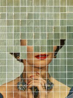 by Ariadna Zierold London based Canadian artist Anthony Gerace creates mysterious collages by combining vintage portraits with colorful tiles that Love Collage, Paper Collage Art, Collages, Pixel Art, Surrealism, Art Projects, Art Photography, Street Art, Illustration Art