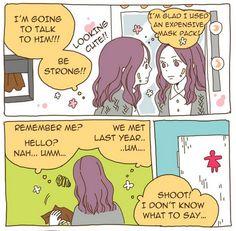haha same for me! i always check the mirror before dating with my boyfriend  :) #romantic #webtoon #linewebtoon #webtoons  m.webtoons.com