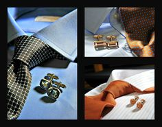 Πουκάμισα 100% cotton, γραβάτες 100% silk.