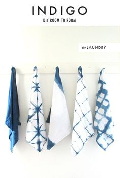 DIY: Room to room: Indigo shibori