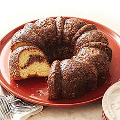 Amaretto Cake with Cinnamon Swirl From Better Homes and Gardens, ideas and improvement projects for your home and garden plus recipes and entertaining ideas.