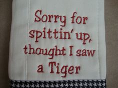Alabama Burp Cloth by CoughlinCrafts on Etsy, $12.00