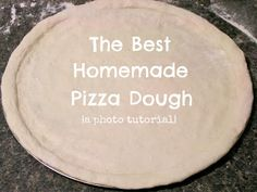 Crunchy Creamy Sweet: The Best Homemade Pizza Dough {photo tutorial}
