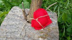 Coeur en tissus à suspendre rouge vif : Accessoires de maison par lestresorsdisa68