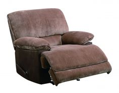 Brown Cushion Back Rocker Recliner W/padded