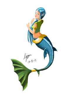 Nang-Nguak or Mermaid was the creature's Himmapan too. Her body have top to be human and bottom to be fish.