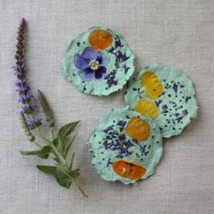 Pretty idea, could make them egg or flower shaped and sell at craft sale in the spring.