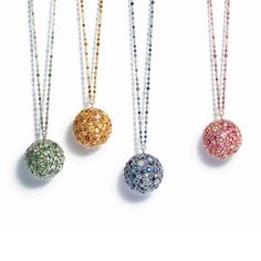 Tiffany Masterpieces Prism pendants in platinum with coloured gemstone and diamonds