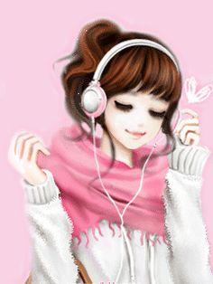 Cute Animated Girl Cartoon ~ ( ‿ ) | Bacotan si dilacious