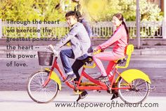 Through the heart we exercise the greatest power of the heart -- the power of love.  http://www.thepoweroftheheart.com// http://www.beyondword.com/product/the-power-of-the-heart-DVD http://www.beyondword.com/product/the-power-of-the-heart-book
