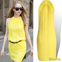 leisure chiffon multi colors dress Cheap Dresses, Summer Dresses, Pencil Dress, Yellow Dress, Chiffon Dress, Off The Shoulder, Sexy Women, Dress Up, Clothes For Women