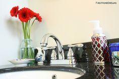 vintage inspired bathroom renovation - vanity reveal