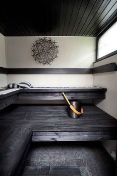 sauna - I want one of these one day! Spa Sauna, Sauna Room, Modern Saunas, Outdoor Sauna, Sauna Design, Finnish Sauna, Spa Rooms, Home Spa, Architecture